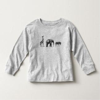 Sophisticated Safari, Giraffe, Elephant and Zebra Toddler T-shirt