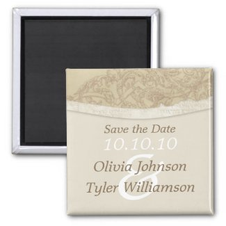 Sophisticated Save the Date magnet