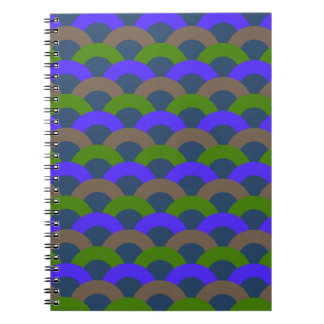 Sophisticated Seamless Pattern Spiral Notebook