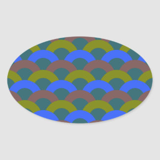 Sophisticated Seamless Pattern Oval Sticker