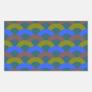 Sophisticated Seamless Pattern Rectangular Sticker