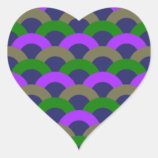Sophisticated Seamless Pattern Heart Sticker
