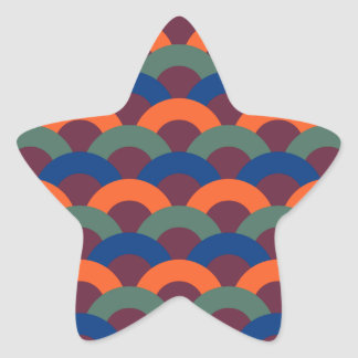 Sophisticated Seamless Pattern Star Sticker