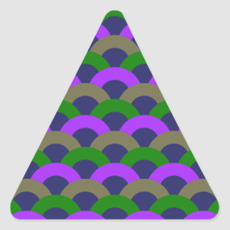 Sophisticated Seamless Pattern Triangle Sticker