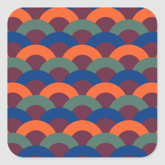 Sophisticated Seamless Pattern Square Sticker