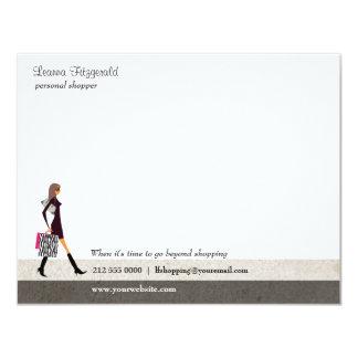 "Sophisticated Shopper Notecard 4.25"" X 5.5"" Invitation Card"