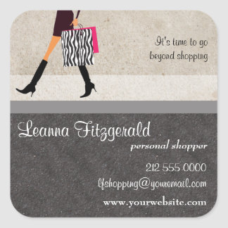 Sophisticated Shopper Promotional Sticker
