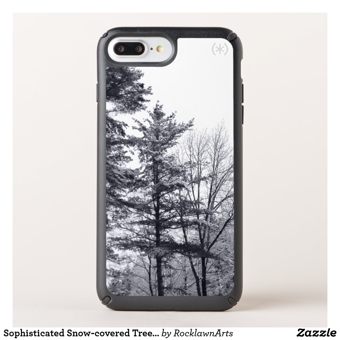 Sophisticated Snow-covered Trees Winter Photo Speck iPhone Case