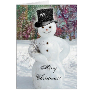 Sophisticated Snowman Card