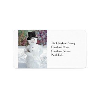 Sophisticated Snowman Label