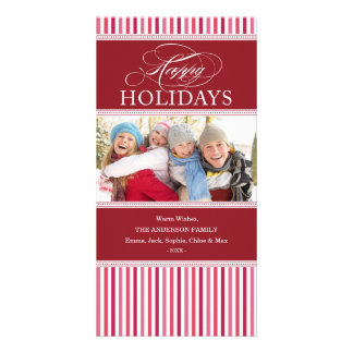 SOPHISTICATED STRIPES   HOLIDAY PHOTO CARD