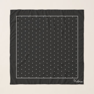 Sophisticated Swiss Dots Square Chiffon Scarf