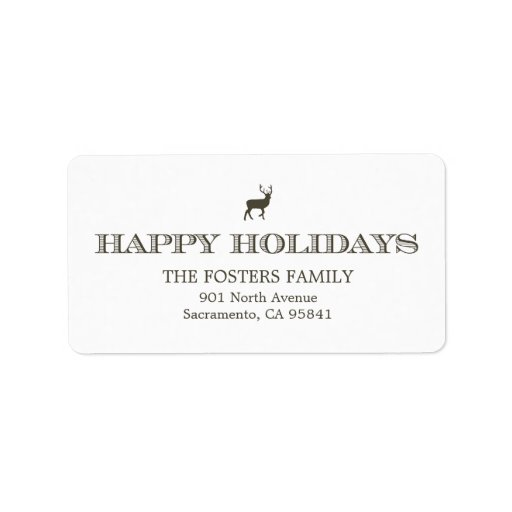 Sophisticated Tag Holiday Address Labels Address Label