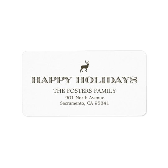 Sophisticated Tag Holiday Address Labels
