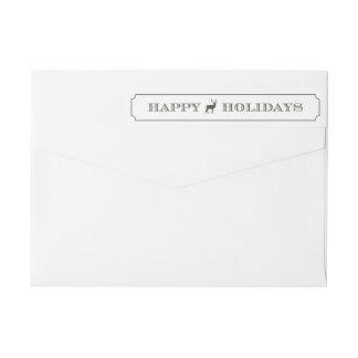 Sophisticated Tag Holiday Wraparound Label Wraparound Return Address Label