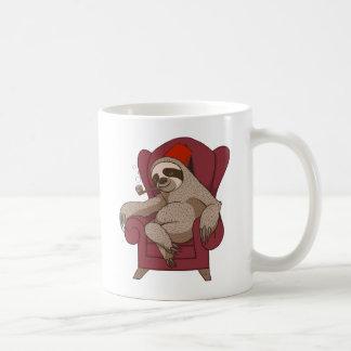 Sophisticated Three Toed Sloth Classic White Coffee Mug