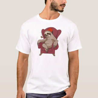 Sophisticated Three Toed Sloth T-Shirt