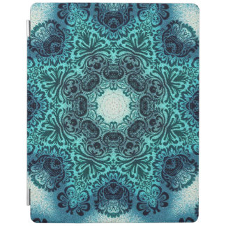 sophisticated vintage bohemian pattern teal lace iPad cover