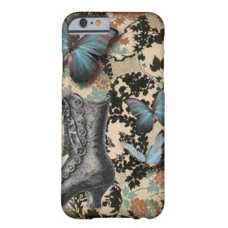 Sophisticated Vintage Paris lace shoe butterfly Barely There iPhone 6 Case