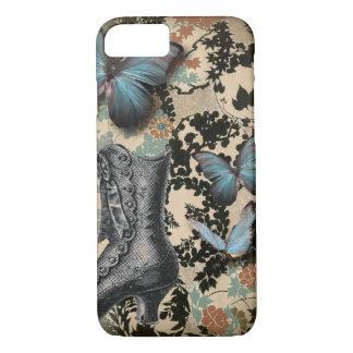 Sophisticated Vintage Paris lace shoe butterfly iPhone 7 Case