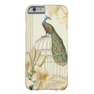 Sophisticated vintage Peacock birdCage Lily Barely There iPhone 6 Case