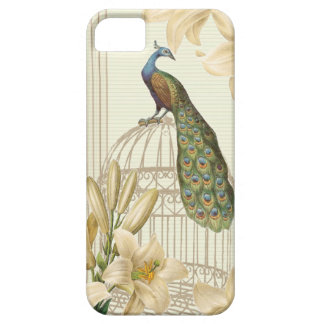 Sophisticated vintage Peacock birdCage Lily iPhone SE/5/5s Case