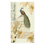 Sophisticated vintage Peacock Lily Business cards