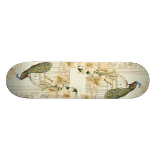 Sophisticated vintage Peacock Lily Skateboard
