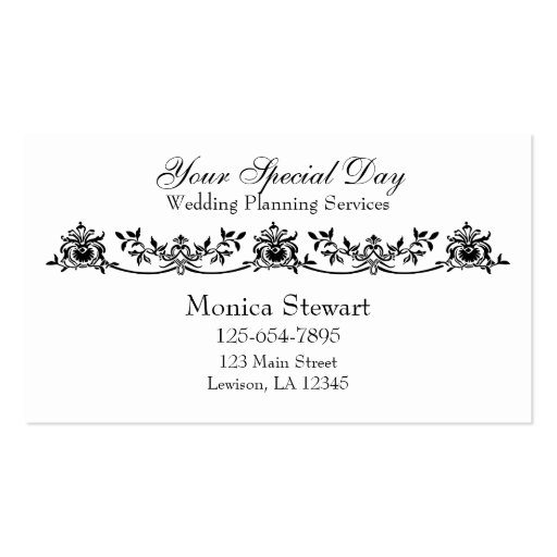 Sophisticated Wedding Planner Business Card