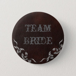 Sophisticated Western Leather Wedding Button