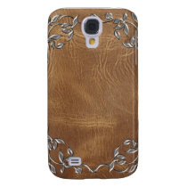 Sophisticated Western Leather Wedding Galaxy S4 Cover