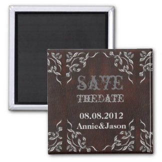Sophisticated Western Leather Wedding Magnet
