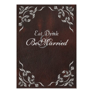 "Sophisticated Western Rehearsal Dinner Invitations 5"" X 7"" Invitation Card"
