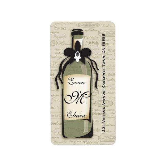 Sophisticated Wine Varietal Label