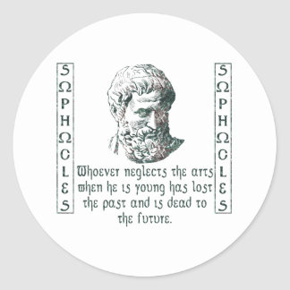 Sophocles Classic Round Sticker