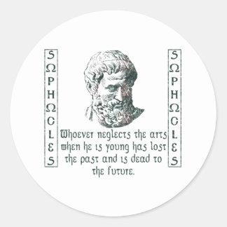 Sophocles Pegatina Redonda