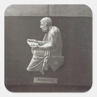 Sophocles  poet reading square sticker