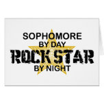 Sophomore Rock Star by Night Greeting Card