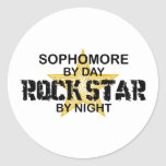 Sophomore Rock Star by Night Stickers