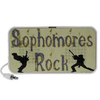 Sophomores Rock - Guitar Players Doodle iPod Speakers