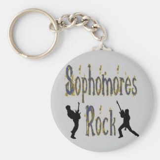 Sophomores Rock - Guitar Players Keychain