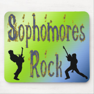 Sophomores Rock - Guitar Players Mouse Pad