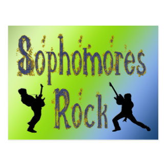 Sophomores Rock - Guitar Players Postcards