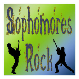 Sophomores Rock - Guitar Players Poster