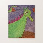 Sopla el dragón mágico - acuarelas puzzle