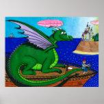 Sopla el dragón mágico impresiones