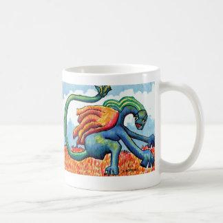 """""""Sopla el dragón mágico """" Taza Básica Blanca"""