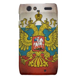 Soplando bandera de Rusia Droid RAZR Funda