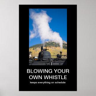 Soplar su propio poster de Demotivational del silb