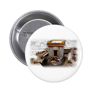 Sople el Shofar en Zion Pin Redondo 5 Cm
